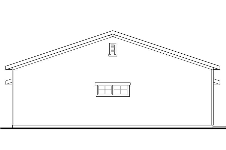 108-1773: Home Plan Left Elevation