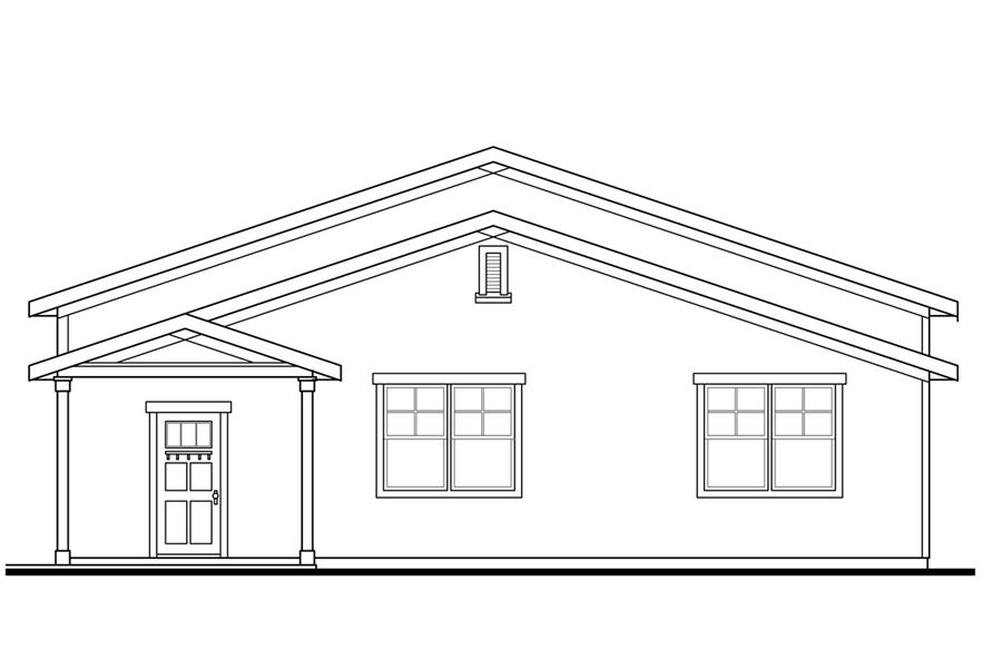 108-1773: Home Plan Right Elevation
