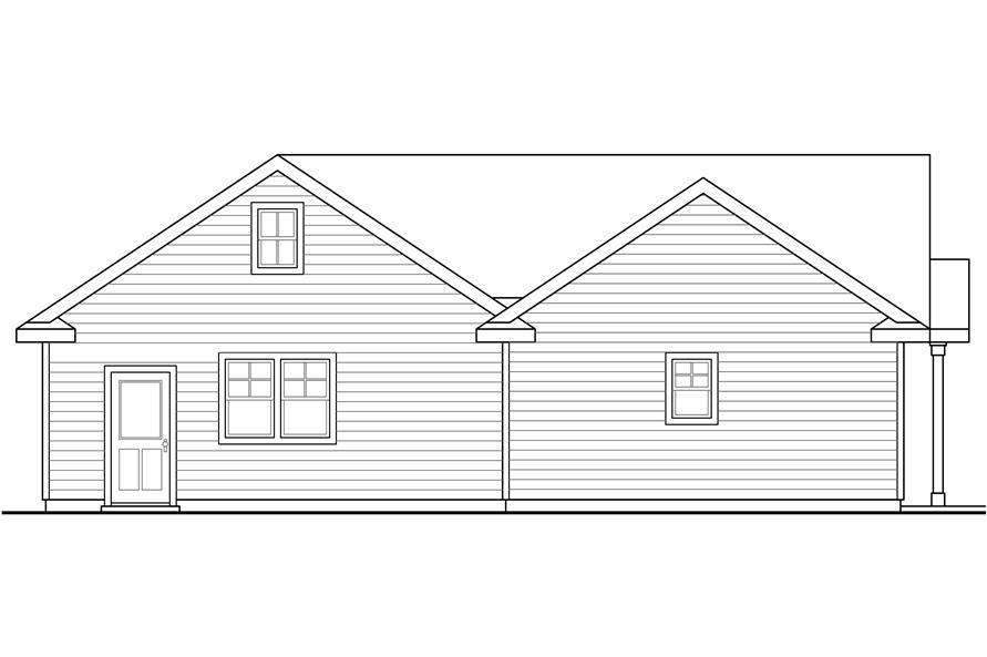 108-1774: Home Plan Rear Elevation