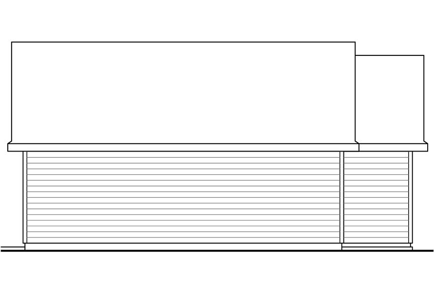 108-1774: Home Plan Right Elevation