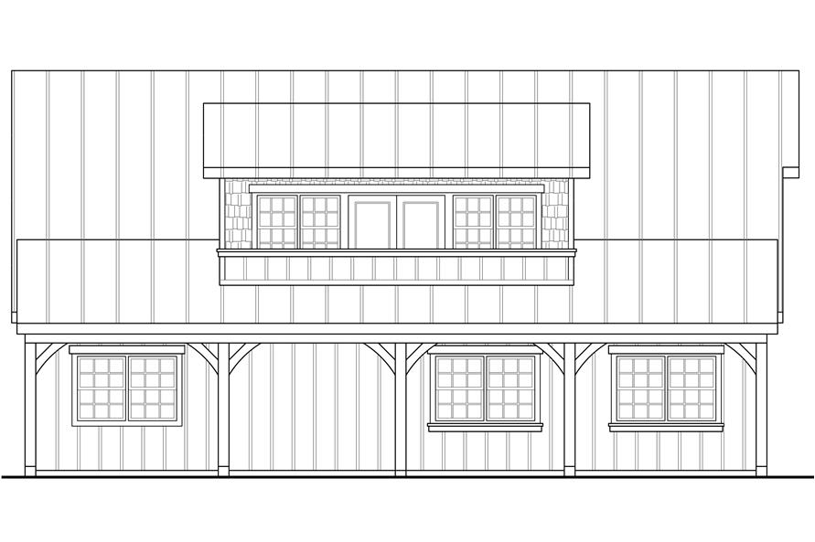 108-1775: Home Plan Left Elevation