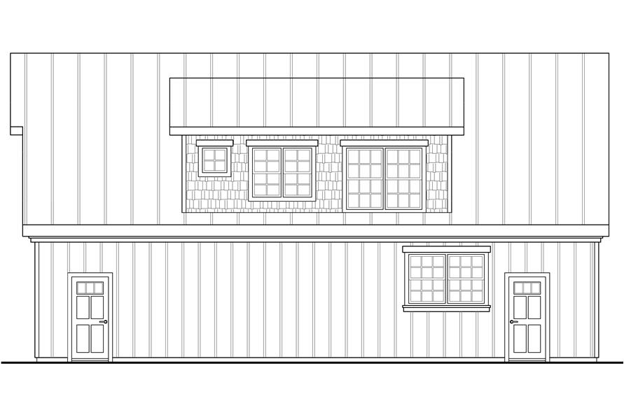108-1775: Home Plan Right Elevation