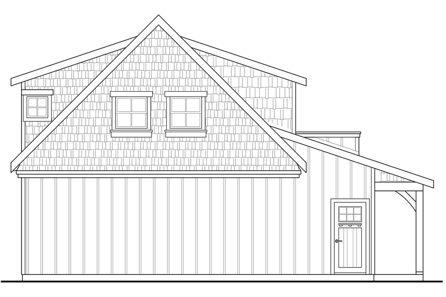 108-1775: Home Plan Rear Elevation