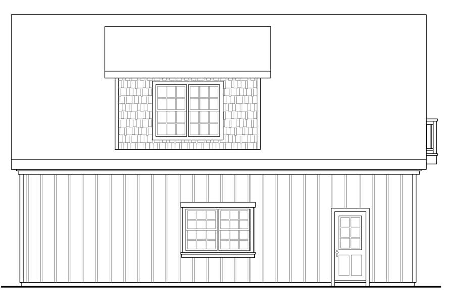 108-1776: Home Plan Left Elevation
