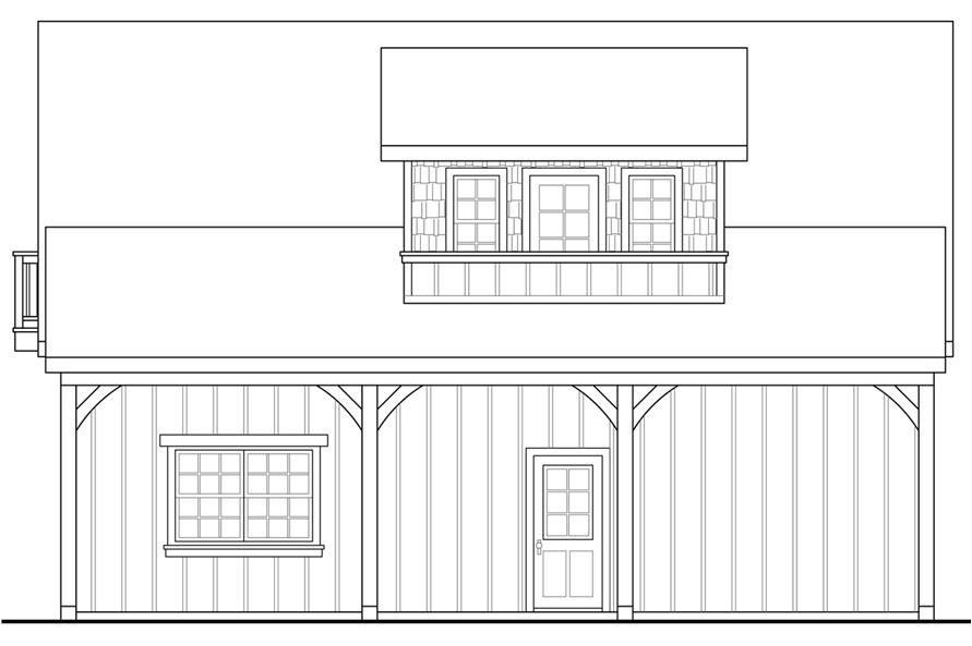 108-1776: Home Plan Right Elevation