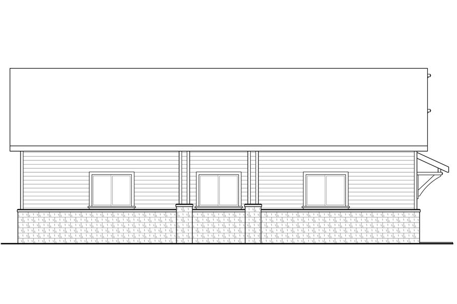 108-1777: Home Plan Left Elevation