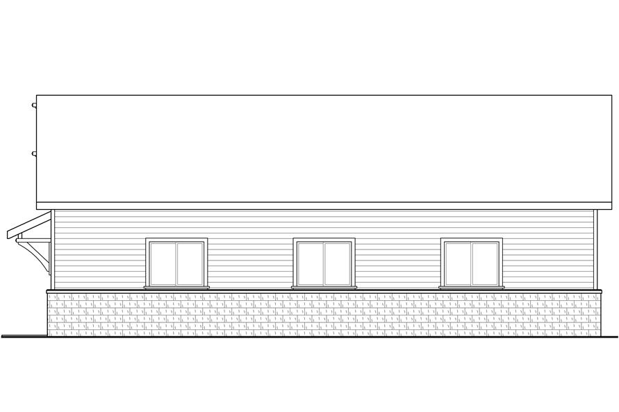 108-1777: Home Plan Right Elevation