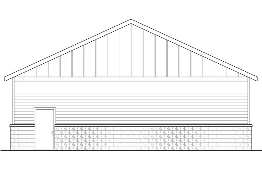 108-1777: Home Plan Rear Elevation