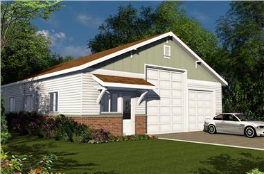 0-Bedroom, 2000 Sq Ft Traditional Home Plan - 108-1777 - Main Exterior