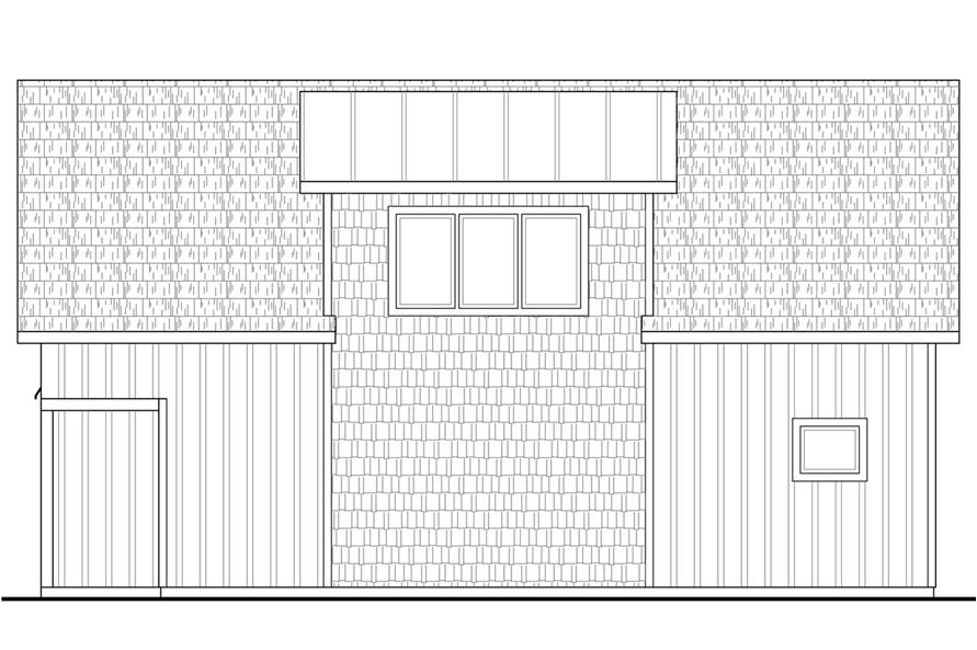Home Plan Right Elevation of this 2-Bedroom,799 Sq Ft Plan -108-1778