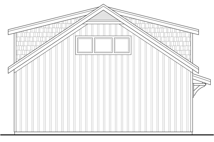 108-1778: Home Plan Rear Elevation