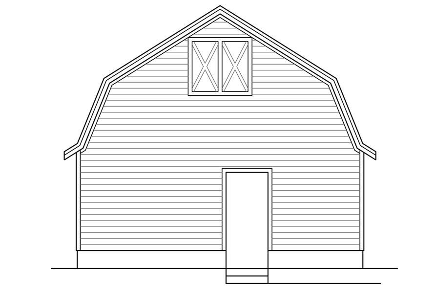 108-1779: Home Plan Left Elevation