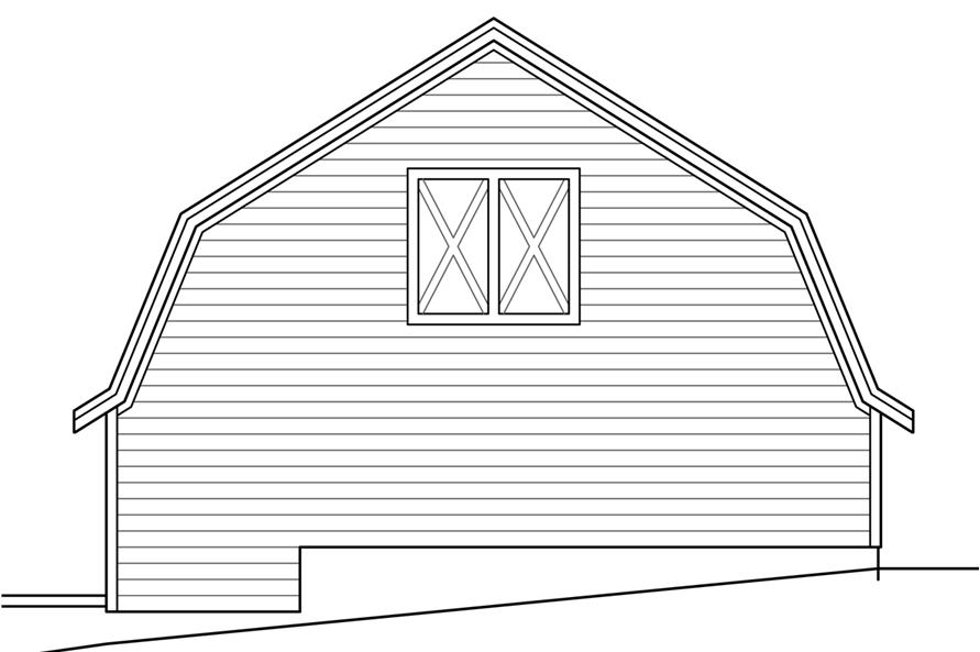 108-1779: Home Plan Right Elevation