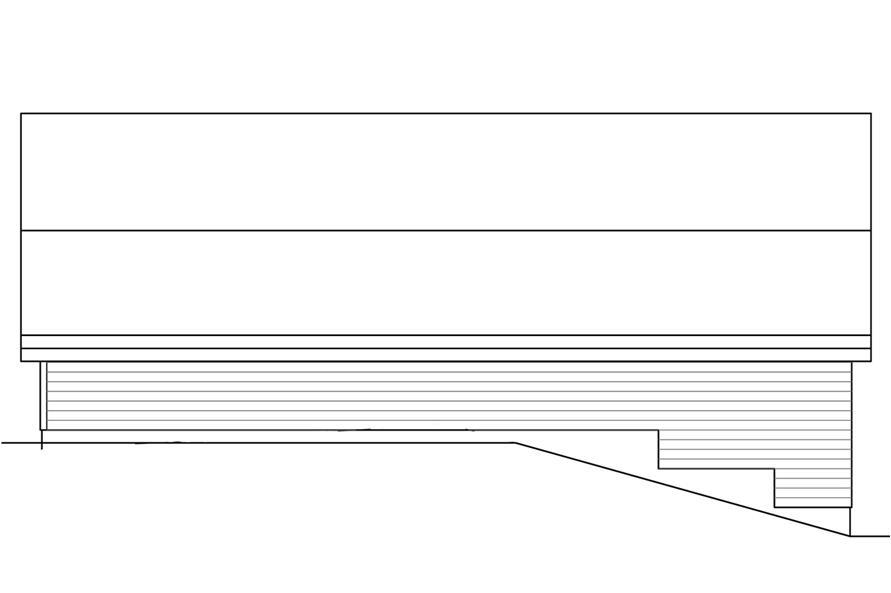 108-1779: Home Plan Rear Elevation