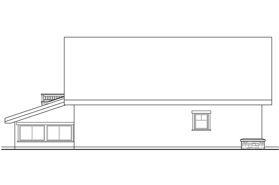 108-1780: Home Plan Left Elevation