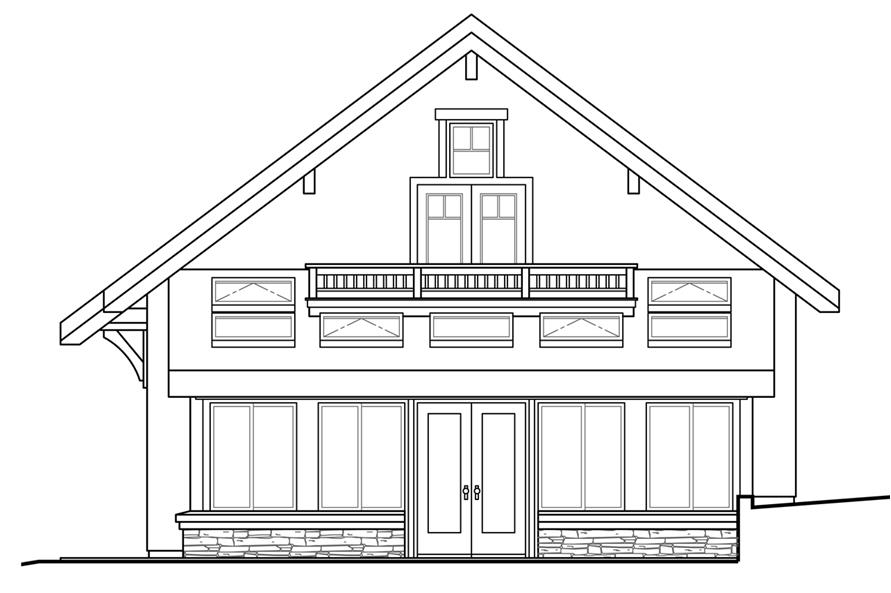 108-1780: Home Plan Rear Elevation