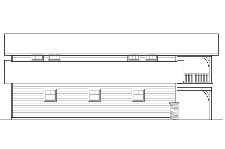 Home Plan Left Elevation of this 0-Bedroom,1948 Sq Ft Plan -108-1781