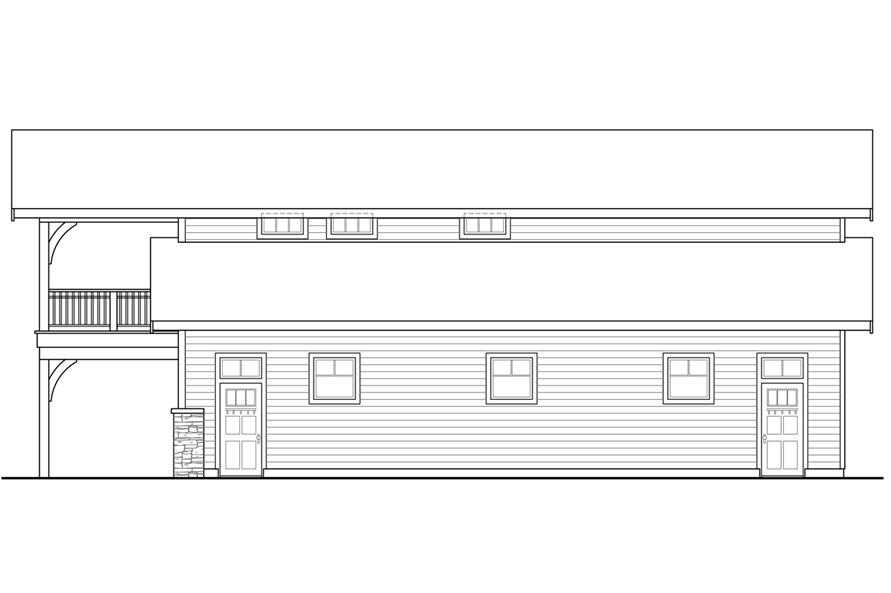 108-1781: Home Plan Right Elevation