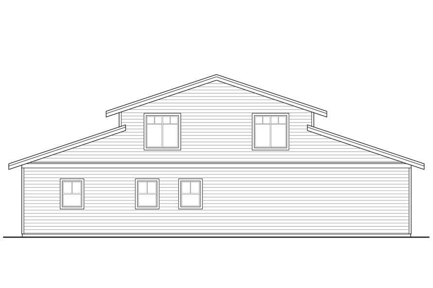 108-1781: Home Plan Rear Elevation