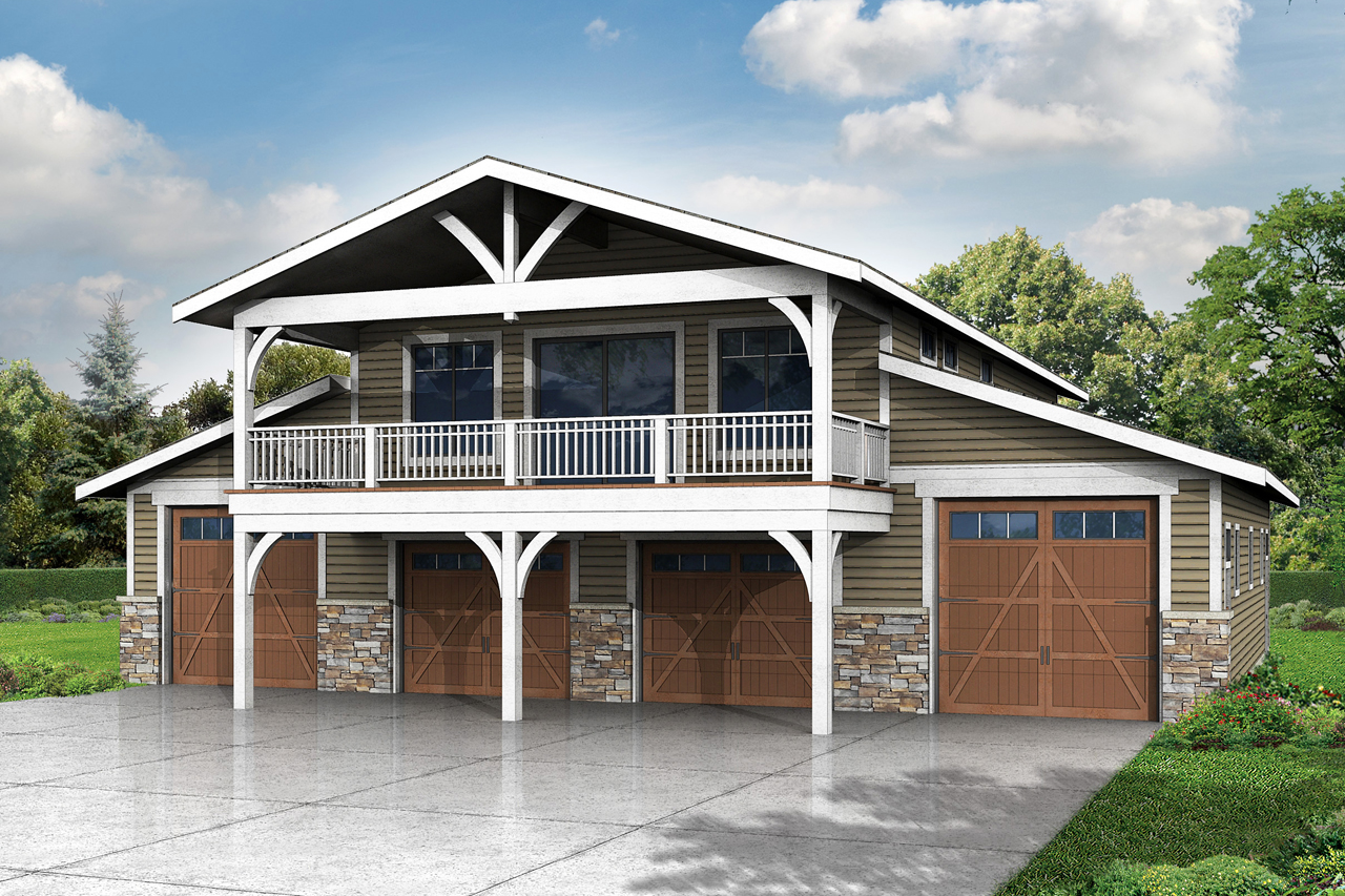 Barn Style Carriage House Garage Plan 6 Car 1948 Sq Ft