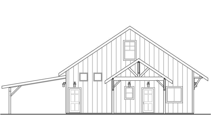 108-1782: Home Plan Left Elevation
