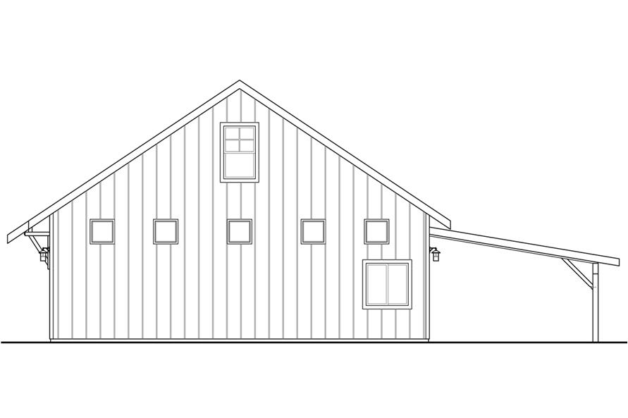 108-1782: Home Plan Right Elevation