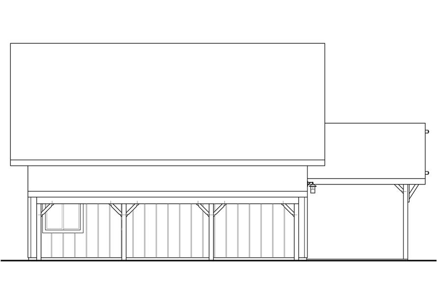108-1782: Home Plan Rear Elevation