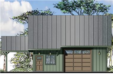 Front elevation of Craftsman home (ThePlanCollection: House Plan #108-1782)