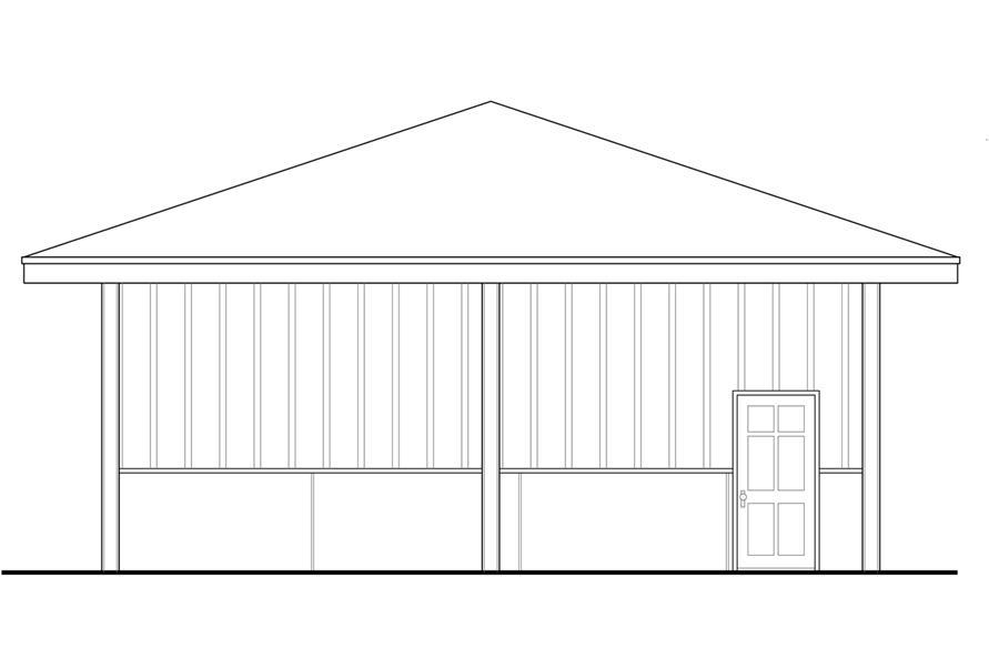 108-1783: Home Plan Left Elevation