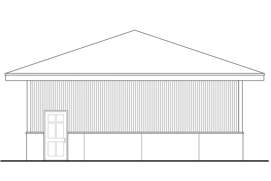 108-1783: Home Plan Right Elevation