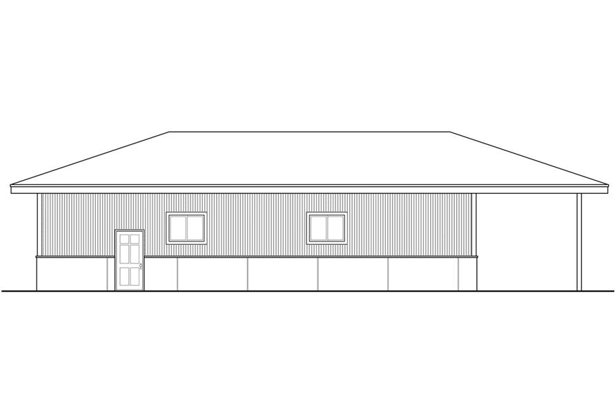 108-1783: Home Plan Rear Elevation