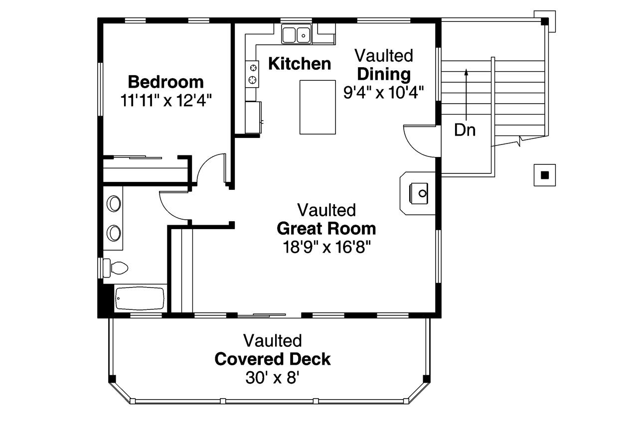 Garage Apartment Plan 1 Bedroom 3 Car Garage 1792 Sq Ft