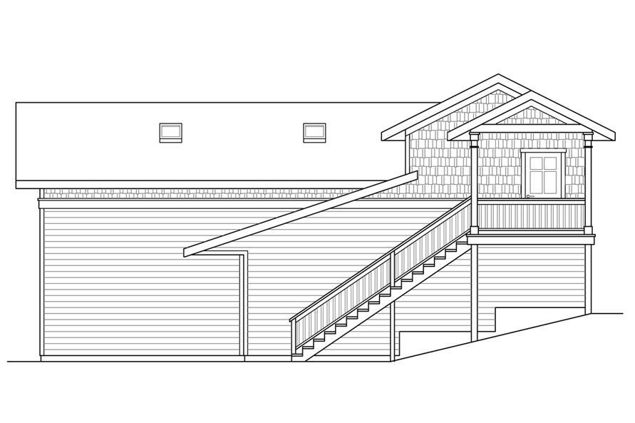 108-1785: Home Plan Left Elevation