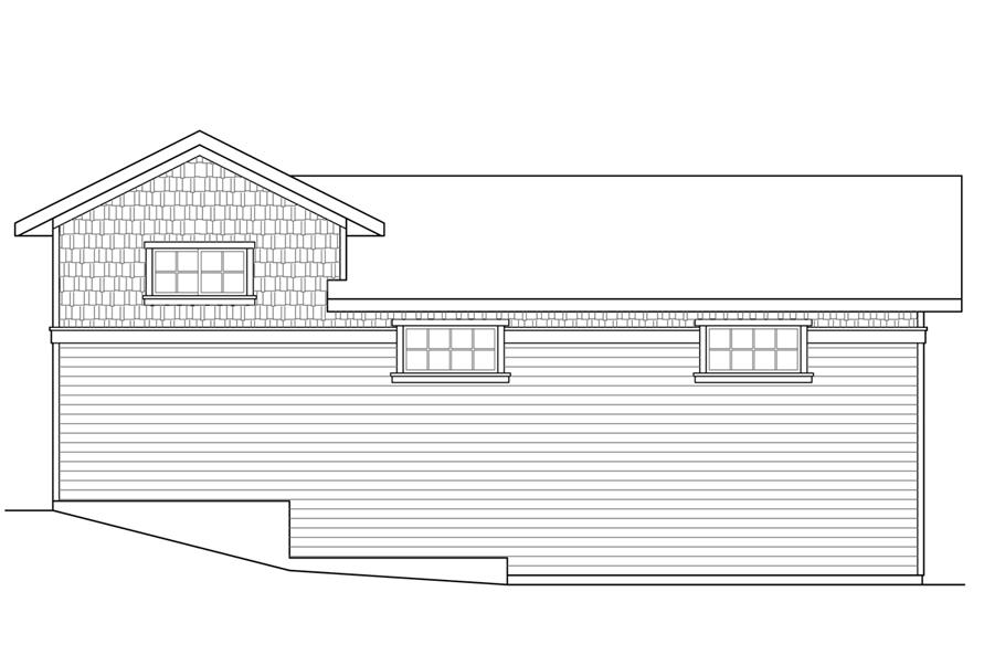 108-1785: Home Plan Right Elevation