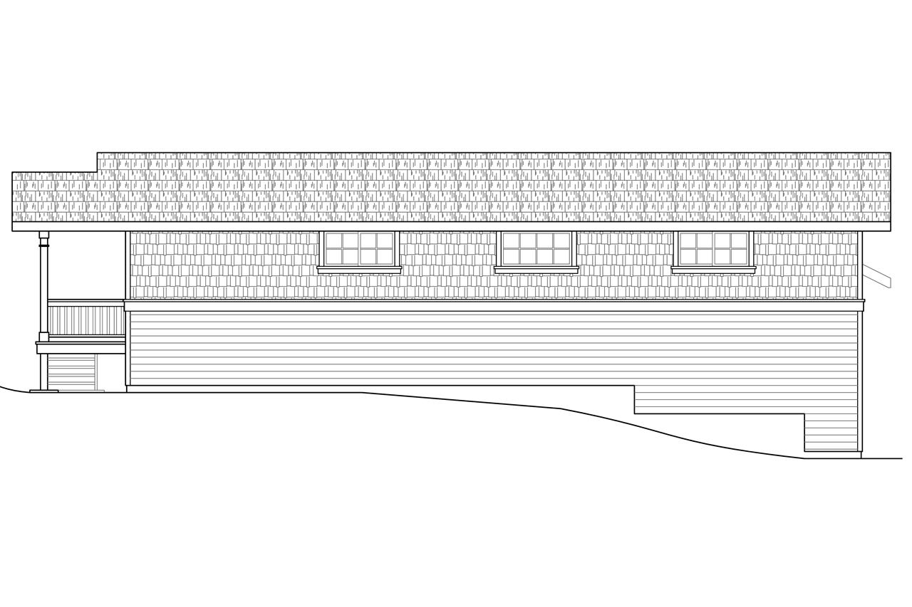 Plan And Elevation Of Car : Craftsmanplan  bedrm car garage