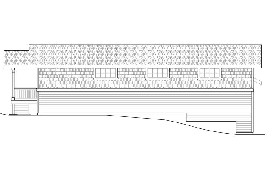 108-1785: Home Plan Rear Elevation