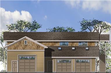 0-Bedroom, 993 Sq Ft Craftsman Home Plan - 108-1785 - Main Exterior