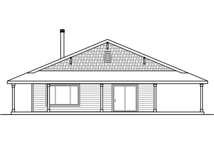 Home Plan Right Elevation of this 3-Bedroom,2176 Sq Ft Plan -108-1786