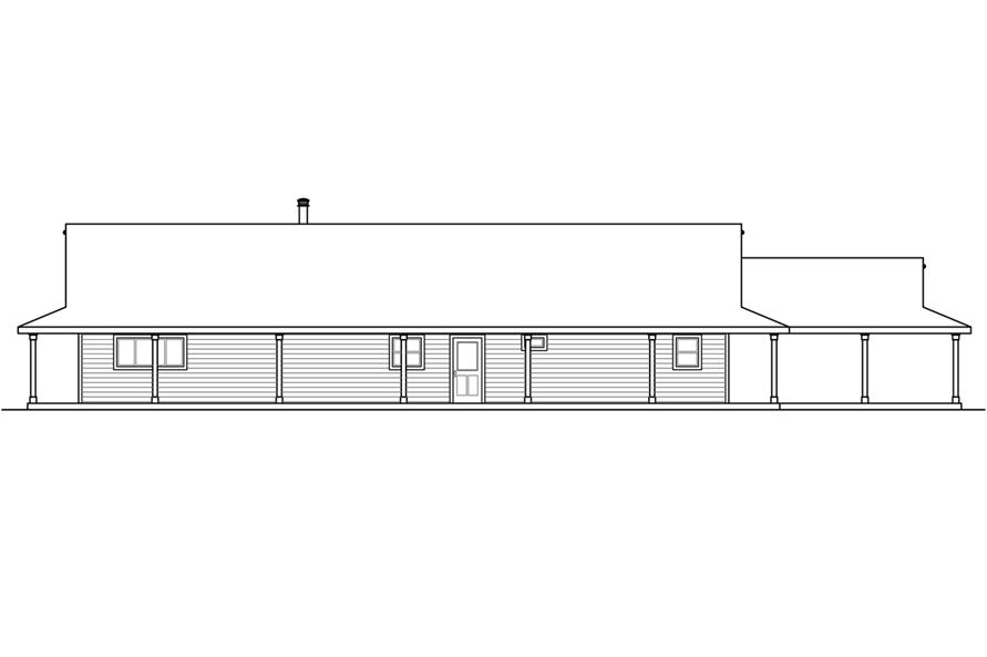 Home Plan Rear Elevation of this 3-Bedroom,2176 Sq Ft Plan -108-1786