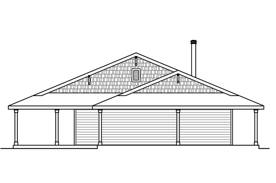 Home Plan Left Elevation of this 3-Bedroom,2176 Sq Ft Plan -108-1786