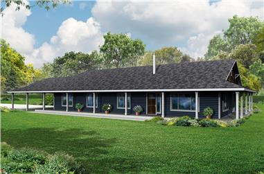 3-Bedroom, 2176 Sq Ft Ranch Home Plan - 108-1786 - Main Exterior