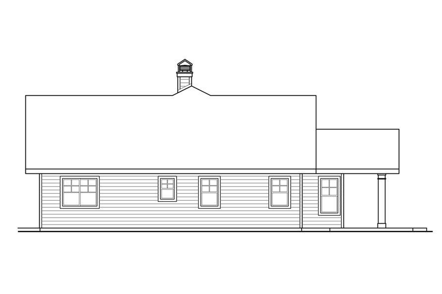 108-1787: Home Plan Left Elevation