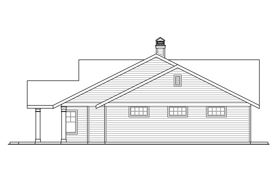 108-1787: Home Plan Right Elevation