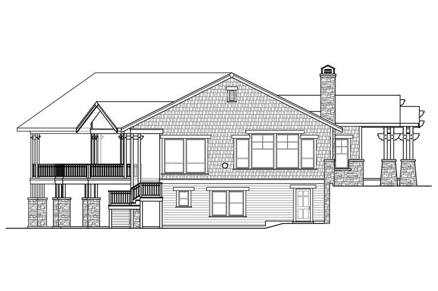 108-1788: Home Plan Left Elevation