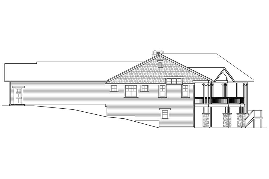 108-1788: Home Plan Right Elevation