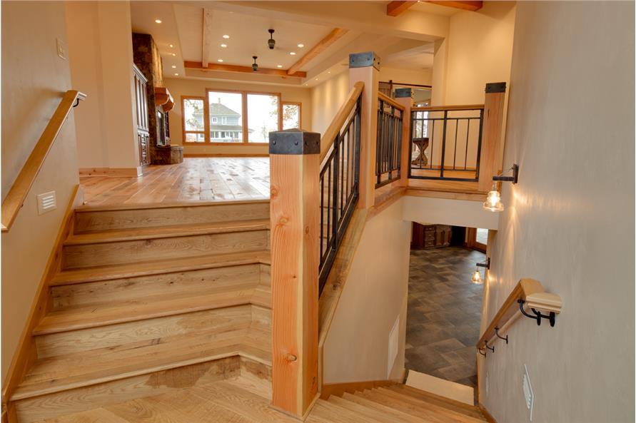 108-1788: Home Interior Photograph-Entry Hall: Staircase