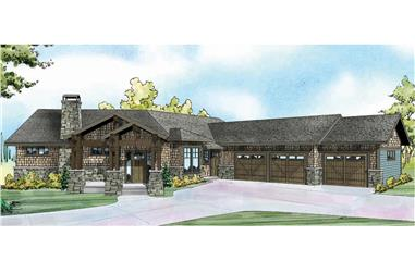 4-Bedroom, 4197 Sq Ft Shingle House Plan - 108-1788 - Front Exterior