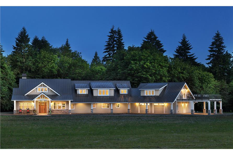 108-1789: Home Exterior Photograph-Home at Night