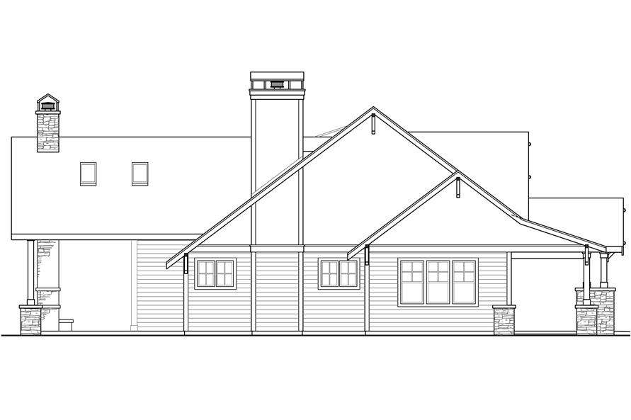 Home Plan Left Elevation of this 3-Bedroom,3815 Sq Ft Plan -108-1789