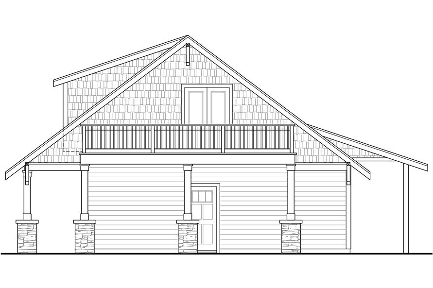 108-1789: Home Plan Right Elevation